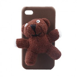 Coque iPhone 4/4S ours en peluche