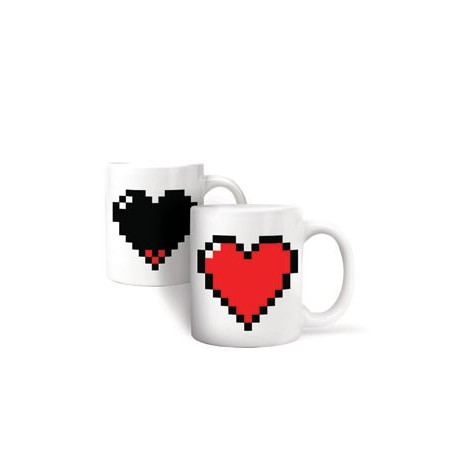 Mug thermographique Coeur Pixel