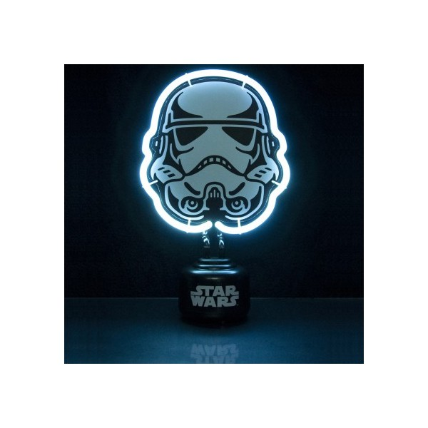 une lampe stormtrooper n on pour la d co de votre chambre star wars. Black Bedroom Furniture Sets. Home Design Ideas