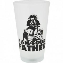"Verre pinte ""I am your father "" dark vador"